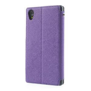 Okýnkové pouzdro na mobil Sony Xperia Z1 - fialové - 2