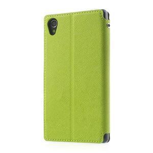 Okýnkové pouzdro na mobil Sony Xperia Z1 - zelené - 2