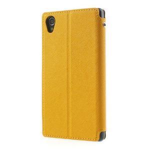 Okýnkové pouzdro na mobil Sony Xperia Z1 - žluté - 2