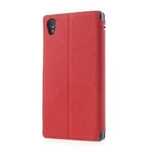 Okýnkové pouzdro na mobil Sony Xperia Z1 - červené - 2