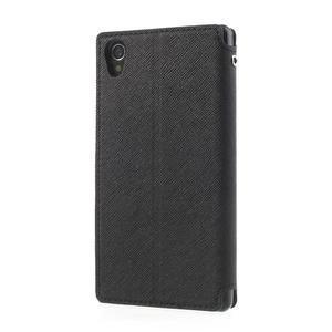 Okýnkové pouzdro na mobil Sony Xperia Z1 - černé - 2