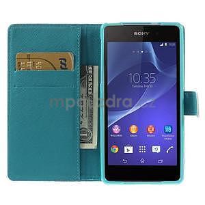 Stylové peněženkové pouzdro na Sony Xperia Z2 - Eiffelova věž - 2