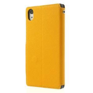 Okýnkové puzdro pre mobil Sony Xperia Z2 - žlté - 2