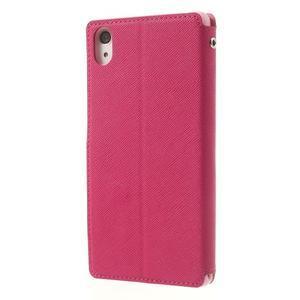 Okýnkové pouzdro na mobil Sony Xperia Z2 - rose - 2