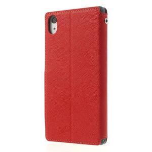 Okýnkové puzdro pre mobil Sony Xperia Z2 - červené - 2