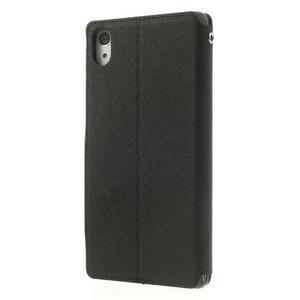 Okýnkové puzdro pre mobil Sony Xperia Z2 - čierne - 2