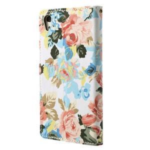Květinové pouzdro na mobil Sony Xperia Z2 - bílé - 2