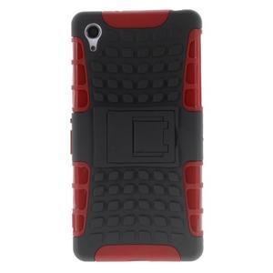 Outdoor odolný kryt pre mobil Sony Xperia Z2 - červený - 2