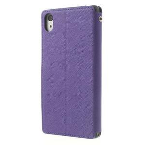 Okýnkové puzdro pre mobil Sony Xperia Z2 - fialové - 2