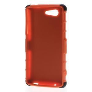 Odolný ochranný kryt pre Sony Xperia Z3 Compact - oranžový - 2