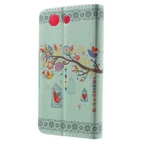 Pictu Peňaženkové puzdro pre Sony Xperia Z3 Compact - vtáčik v kleci - 2