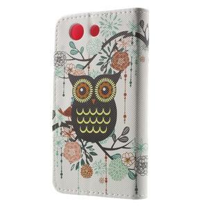 Pictu Peňaženkové puzdro pre Sony Xperia Z3 Compact - sovička - 2