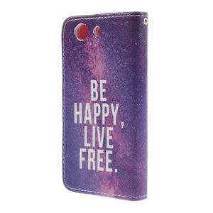 Knížkové puzdro pre mobil Sony Xperia Z3 Compact - be happy - 2