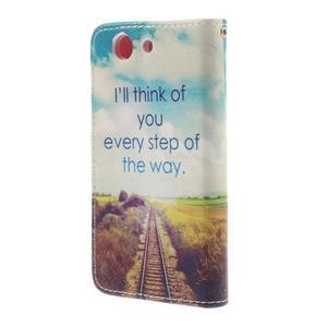 Knížkové puzdro pre mobil Sony Xperia Z3 Compact - cesta - 2