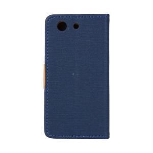 Texture pouzdro na mobil Sony Xperia Z3 Compact - tmavěmodré - 2