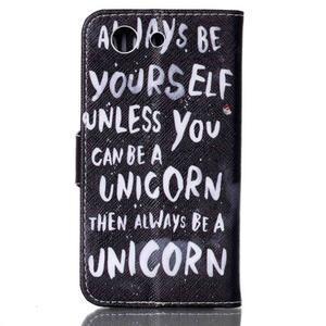 Emotive knížkové pouzdro na Sony Xperia Z3 Compact - unicorn - 2