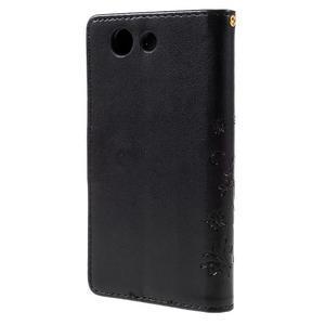Butterfly PU kožené puzdro pre mobil Sony Xperia Z3 Compact - čierne - 2