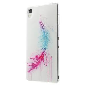Ultratenký gelový obal na mobil Sony Xperia Z3 - peříčko - 2