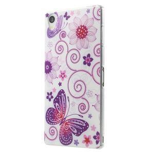 Ultratenký gelový obal na mobil Sony Xperia Z3 - pohádkový motýl - 2