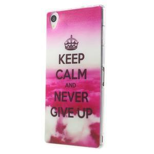 Ultratenký gélový obal pre mobil Sony Xperia Z3 - Keep Calm - 2