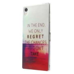 Ultratenký gélový obal pre mobil Sony Xperia Z3 - regret - 2