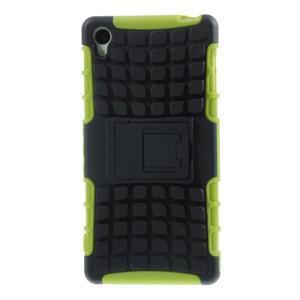 Outdoor ochranný kryt pre mobil Sony Xperia Z3 - zelený - 2