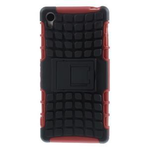 Outdoor ochranný kryt na mobil Sony Xperia Z3 - červený - 2