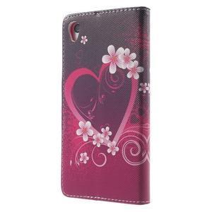 Emotive Peňaženkové puzdro pre Sony Xperia Z3 - srdce - 2