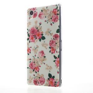 Gélový obal pre mobil Sony Xperia Z3 - kvetiny - 2