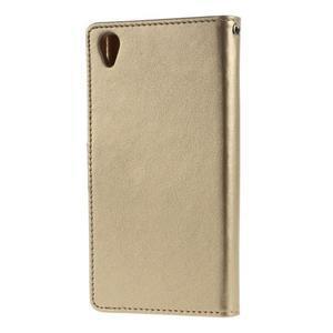Luxury PU kožené pouzdro na mobil Sony Xperia Z3 - champagne - 2
