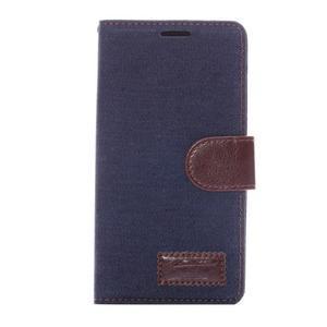 Jeans knížkové puzdro pre mobil Sony Xperia Z3 - černomodré - 2