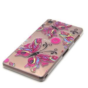 Gelový obal na mobil Sony Xperia Z3 - barevný motýlci - 2