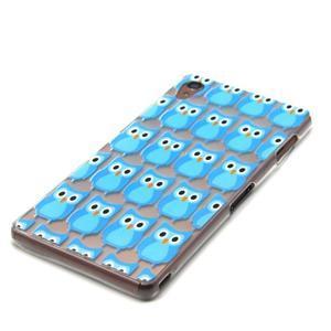 Gélový obal pre mobil Sony Xperia Z3 - modré malej sovy - 2