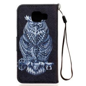 Leat peňaženkové puzdro pre Samsung Galaxy A3 (2016) - tribal sova - 2