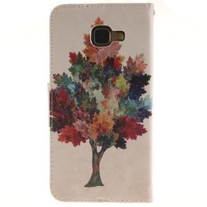 Patt peňaženkové puzdro pre Samsung Galaxy A3 (2016) - farebný strom - 2