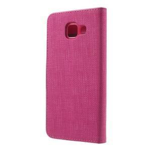 Cloth peněženkové pouzdro na mobil Samsung Galaxy A3 (2016) - rose - 2