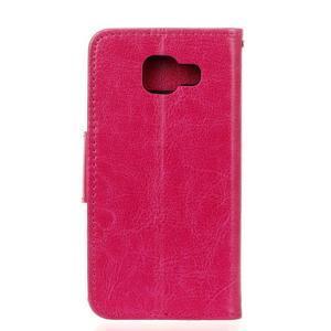 Hoor PU kožené pouzdro na mobil Samsung Galaxy A3 (2016) - rose - 2