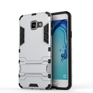 Outdoor odolný kryt pre mobil Samsung Galaxy A3 (2016) - strieborny - 2