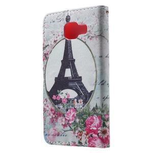 Fun peňaženkové puzdro pre Samsung Galaxy A3 (2016) - Eiffelova veža - 2