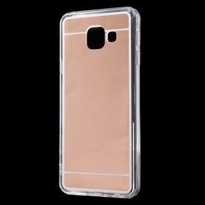 Zrcadlový gelový kryt na Samsung Galaxy A3 (2016) - rose gold - 2