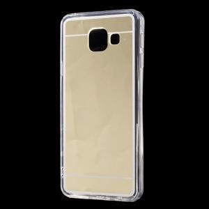 Zrcadlový gélový kryt pre Samsung Galaxy A3 (2016) - zlatý - 2