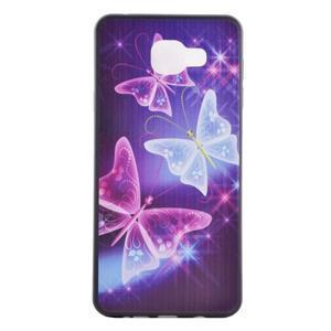 Terry gelový obal na Samsung Galaxy A3 (2016) - kouzelní motýlci - 2