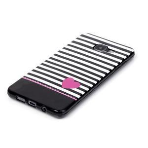 Style gélový obal pre mobil Samsung Galaxy A3 (2016) - srdiečko - 2