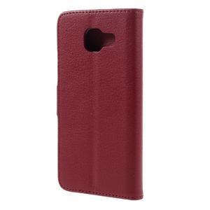Liched koženkové pouzdro na Samsung Galaxy A3 (2016) - červené - 2
