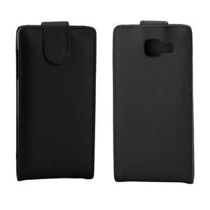 Flipové puzdro pre mobil Samsung Galaxy A3 (2016) - čierne - 2