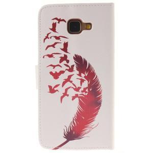 Puzdro pre mobil Samsung Galaxy A3 (2016) - červené pierko - 2