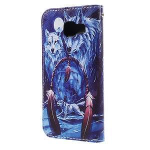 Standy peňaženkové puzdro pre Samsung Galaxy A3 (2016) - vlci - 2