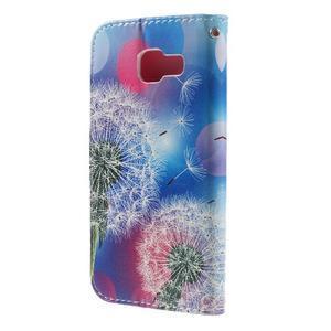 Standy peněženkové pouzdro na Samsung Galaxy A3 (2016) - pampeliška - 2