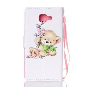 Cardy pouzdro na mobil Samsung Galaxy A3 (2016) - medvídek - 2