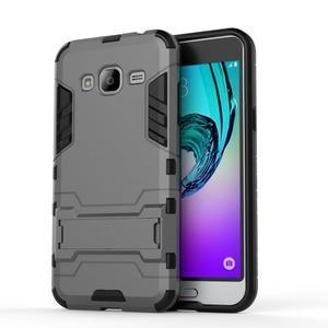 Outdoor odolný obal pre Samsung Galaxy J3 - šedé - 2